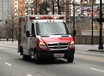 Free Stock Photo: An ambulance in the 2010 Atlanta Saint Patrick's Day Parade
