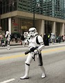 Free Stock Photo: A Star Wars stormtrooper at the 2010 Atlanta Saint Patrick's Day Parade