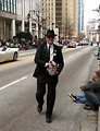 Free Stock Photo: A man passing out candy at the 2010 Atlanta Saint Patrick's Day Parade