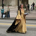 Free Stock Photo: A beautiful woman in a medieval dress in the 2010 Atlanta Saint Patrick's Day Parade