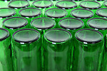 Free Stock Photo: Empty green beer bottles