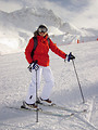 Free Stock Photo: A woman snow skiing