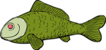 Free Stock Photo: Illustration of a green fish