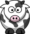 Free Stock Photo: Illustration of a cartoon cow