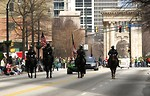 Free Stock Photo: Mounted police officers on horses in the 2010 Saint Patricks Day Parade in Atlanta, Georgia