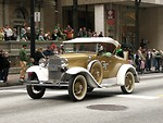 Free Stock Photo: An antique car in the 2010 Saint Patricks Day Parade in Atlanta, Georgia