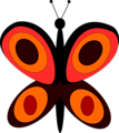 Free Stock Photo: Illustration of an orange butterfly