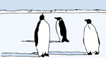 Free Stock Photo: Illustration of penguins in the snow