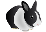 Free Stock Photo: Illustration of a black and white rabbit