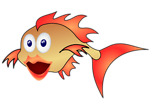 Free Stock Photo: Illustration of a cartoon goldfish