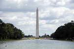 Free Stock Photo: The Washington Monument viewed from the Lincoln Memorial Reflecting Pool in Washington, DC