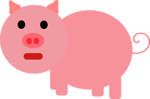 Free Stock Photo: Illustration of a pig