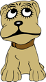Free Stock Photo: Illustration of a cartoon dog