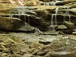 Free Stock Photo: A small waterfall on rocks