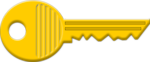 Free Stock Photo: Illustration of a gold key