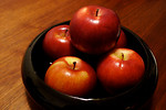 Free Stock Photo: A bowl full of red Empire apples