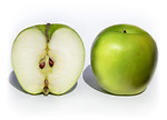 Free Stock Photo: Whole and sliced Granny Smith apples