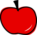 Free Stock Photo: Illustration of a red apple