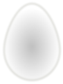 Free Stock Photo: Illustration of a white egg