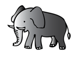 Free Stock Photo: Illustration of an elephant
