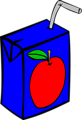 Free Stock Photo: Illustration of a small apple juice box