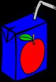 Free Stock Photo: Illustration of a small apple juice box