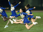 Free Stock Photo: Cheerleaders jumping in the air