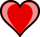 Free Stock Photo: Illustration of a red heart