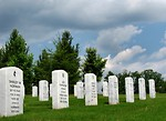 Free Stock Photo: Gravestones in a row at the Georgia National Cemetery