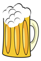 Free Stock Photo: Illustration of a foamy mug of beer