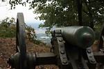 Free Stock Photo: Close-up of a Civil War era cannon in the woods