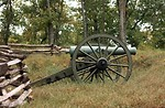 Free Stock Photo: A Civil War era cannon in the woods