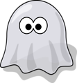 Free Stock Photo: Illustration of a cartoon halloween ghost