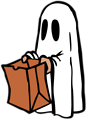 Free Stock Photo: Illustration of a ghost with a bag