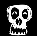 Free Stock Photo: Illustration of a human skull