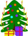Free Stock Photo: Illustration of a Christmas tree with presents