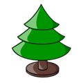 Free Stock Photo: Illustration of a plain Christmas tree