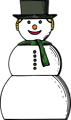 Free Stock Photo: Illustration of a snow woman