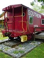Free Stock Photo: A red Southern Railway caboose