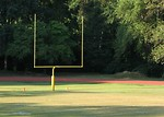 Free Stock Photo: A football goal post