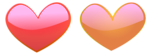 Free Stock Photo: Illustration of pink and orange hearts