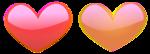 Free Stock Photo: Illustration of pink and orange hearts