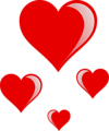 Free Stock Photo: Illustration of red hearts