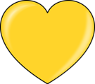 Free Stock Photo: Illustration of a gold heart