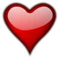 Free Stock Photo: Illustration of a red heart isolated on a transparent background