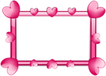Free Stock Photo: A blank frame border with pink hearts