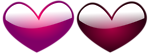 Free Stock Photo: Illustration of purple and red hearts