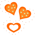 Free Stock Photo: Illustration of orange hearts