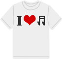 Free Stock Photo: Illustration of an I love music t-shirt
