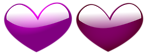 Free Stock Photo: Illustration of purple hearts